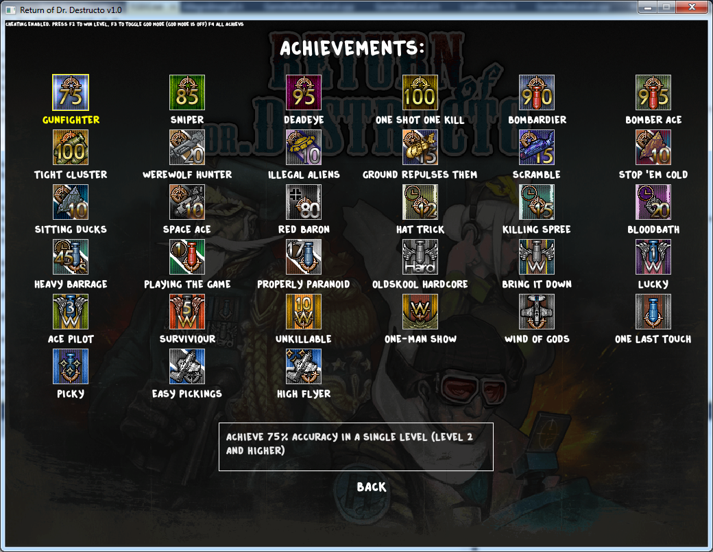 The new Achievements screen.