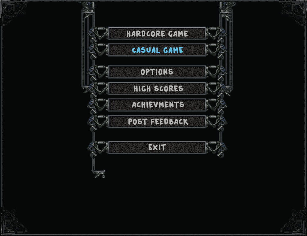 The first variant of the new main menu.